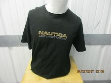 VINTAGE NAUTICA COMPETITION BLACK SHORT SLEEVE LARGE GRAPHIC T-SHIRT PRE OWNED
