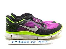 Women's Nike Free Run+ 3 Laser Purple Volt Black Running Shoes 510643-553 sz 9