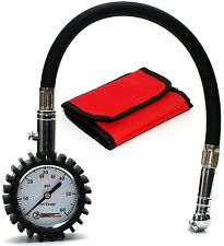 Professional Air Tire Pressure Gauge 60 PSI Best for Car Motorcycle Storage Case
