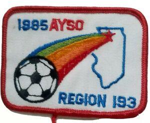 AYSO 1985 Region 193 PATCH  NORTHERN ILLINOIS VINTAGE