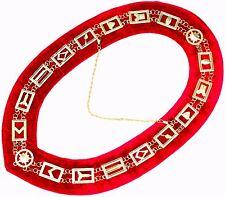 Masonic Regalia Master Mason Golden Metal Chain Collar Red Backing Dmr-400gr