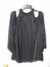 NWT Women's WORTHINGTON Black Open Shoulder Blouse Size 2X - MSRP $52
