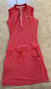 Nike Golf Tour Performance Pink Athletic Dress Tennis w/ Pockets Sz XS