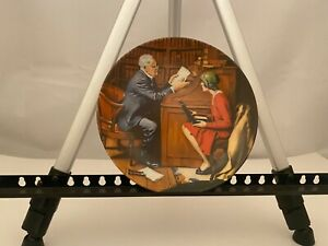 Norman Rockwell plate The Professor