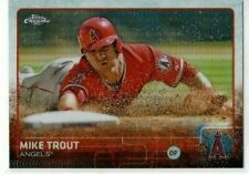 2015 Topps Chrome Mike Trout (Angels) Rainbow Refractor Card No. 51