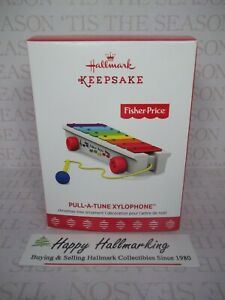 Hallmark New 2017 Fisher-Price Pull-A-Tune Xylophone Ornament