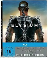 ELYSIUM (Matt Damon, Jodie Foster) Blu-ray Disc, Steelbook NEU+OVP