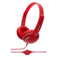 Écouteurs rouge avec contrôle du volume