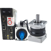 Delta 200W 0.64NM AC Servo Motor Drive Kit NEMA24 Planetary Speed Reducer Router