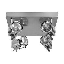 Deckenleuchte Deckenlampe Deckenstrahler Deckenspot Design Chrom LED möglich