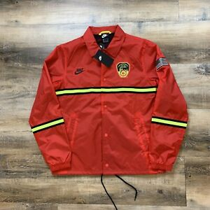 Nike FDNY Coaches Jacket Med Sportswear Red CW4799-657 New York Fire Department