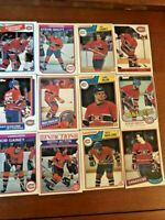 Montreal Canadiens 40 Card Lot from the 80's - Great Lot OPC and Topps