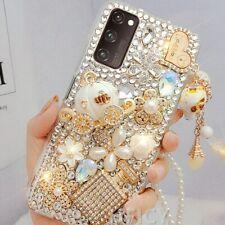 Girls Bling Glitter Diamond Women Rhinestones Crystal Case Cover For Cell Phones