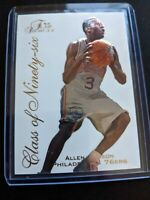 1996 Fleer Flair Showcase Allen Iverson ROOKIE #10 Of 20 Class of 96 RC Embossed