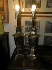 Pair of 2 Vintage Gold Stiffel Lamps (Working)