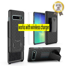 Samsung Galaxy S10 Wave Case Cover Belt Clip Holster +3D Pet Full Cover Screen P