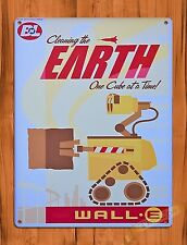 TIN SIGN Walt Disney Tin Sign Wall E Movie Ride Art Poster