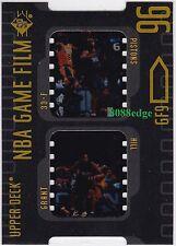 1996-97 UPPER DECK SP NBA GAME FILM: GRANT HILL #GF9 DETROIT PISTONS DIE-CUT HOF