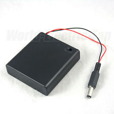 Battery Holder 4 AA DOUBLE A 6V Box Switch DC 2.1 5.5mm Power Plug for Arduino