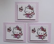 PK3 HELLO KITTY CUPCAKE EMBELLISHMENT TOPPERS FOR CARDS