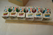 6 Old GE Original Colored Party Bulbs Christmas 25w original box #917