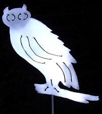 Owl Bird Barn Metal Garden Yard Lawn Art Decor Stake