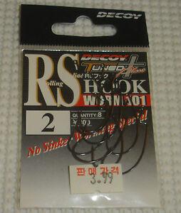 Decoy Tackle (Japan) R.S. Hooks / Worm 101 / Size 2 / Qty. 8