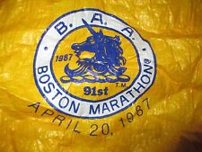 RARE April 20,1987 Alfa 91st B. A. A. BOSTON MARATHON (LG) Running TYVEK Jacket