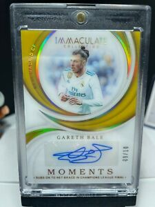 2018-19 Panini Immaculate Soccer GARETH BALE Moments Autograph 9/10 AUTO SP