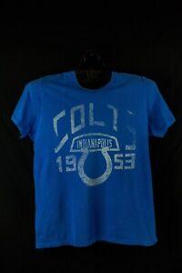Indianapolis Colts 1953 NFL T Shirt M junk food blue usa 50/50 blend