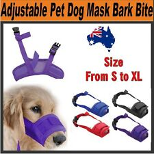Adjustable Safety Dog Muzzle Pet Puppy Mesh Mouth Mask Anti Biting Barking Groom