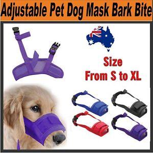 Adjustable Safety Dog Muzzle Pet Puppy Mesh Mouth Mask Anti Biting Barking Groom