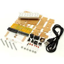 """Kit de Bricolaje 0.8"""" LED Verde Digital Termómetro de tiempo de reloj electrónico Microcontrolador"""