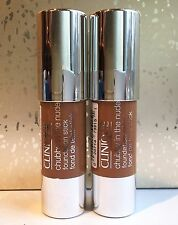 Lot 2 Clinique Chubby in the Nude Foundation Stick Gargantuan Golden 0.12oz each