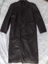 Roundtree & Yorke Long Black Lambskin Leather Buttery-Soft Size Large L VGC