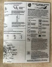 UPS United Parcel Service Airlines B767-300  Passenger Jumpseat Safety Card 2013