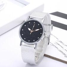 Fashon Womens Watch Ladies Diamond Starry Dial Quartz Silicone Wrist Watches New
