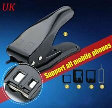 All In One Micro, Nano Sim Card Cutter Punch Pin for Iphone Mobile Phone, Tablet