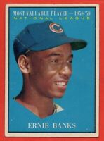 1961 Topps #485 Ernie Banks LOW GRADE PIN HOLE CREASE MVP Chicago Cubs FREE S/H