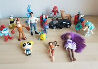 Lot Of Assorted Action Figures for Boy Girls Toys Disney Little Mermaid Smurfs