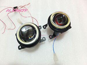 Bifocal Lens Fog Lamp Assembly +COB DRL for Frod Mitsubishi Nissan Honda Renault