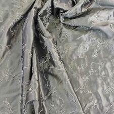 Silver Embroidered ROPE Taffeta Silk SKIRT Jackets Evening Dress Cushions Fabric