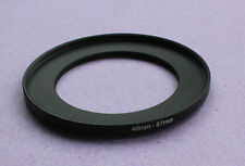 49mm to 67mm Male-Female Stepping Step Up Filter Ring Adapter 49mm-67mm UK