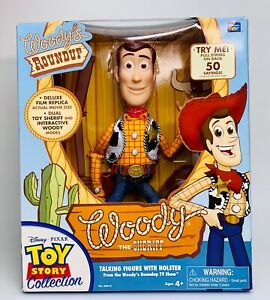 RARE Toy Story Signature Collection Woody Thinkway WHITE Logo Label 2010 Figure
