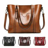 Women Large Soft Leather Shopping Bag Crossbody Satchel Shoulder Handbag Purse