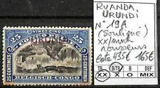 [841574] B/TB||**/Mnh || - Ruanda-Urundi 1915 - N° 19, surcharge 'URUNDI' rousse