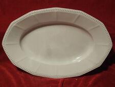 Ovale Platte 38 x 24,5 cm Hutschenreuther Selb Walküre Perlrand weiss
