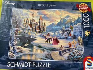Thomas Kinkade 1000 Piece Disney Jigsaw. Beauty And The Beast