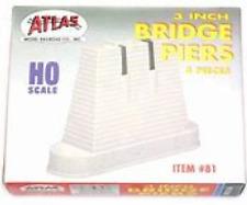 """Atlas #81   3"""" Bridge Piers - 4 Piers -  HO Scale"""