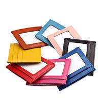 Leather Women's Men's RFID Small ID Credit Card Wallet Holder Slim Pocket Case